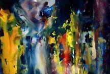 ABSTRACTO Art / Obras de arte abstractas realizadas por la Artista Cris Acqua