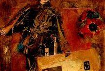 COLLAGEMANIA. / Serie de obras de arte de tecnicas mixtas, realizadas por la Artista italiana Cris Acqua, creadora junto a la Artista española Carmen Luna del Manifiesto Internacional del Collage (2005)
