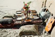 Picnics and Campfires / Alfresco dining inspiration for perfect picnics and cosy campfires