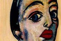 Art PORTRAIT / Serie de retratos expresionistas de la artista Carmen Luna.