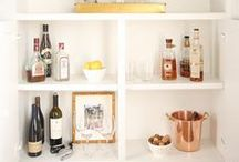 wet bar / Ideas on how to build,add, and present a wet bar in your home.  / by Julie Blanner