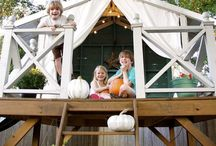 playhouse, treehouse & swingsets / Ideas to build the perfect playground your kids (and you) dream of!  / by Julie Blanner