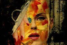 SAATCHI Art COLLAGES / Carmen Luna reune en ésta serie ( MIS TESOROS) obras muy especiales para su recorrido en el Arte del Collage.