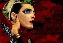 MIXED MEDIA Art. / Obras de arte realizadas con pinturas tecnicas mixtas. Works of art made with mixed media paintings.