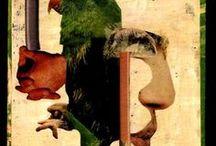 COLLAGES / Obras de arte con  la técnica del collage.
