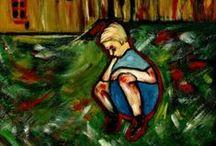 """El ARTE y los desastres. / The disasters.  """" Nunca pensé que el dolor iba a ser tan fuerte como para convertirlo en ARTE. """" ( Cris Acqua )  Estoy trabajando sobre los desastres del hombre frente al hombre.  Guerras, pérdidas, enfermedades, avaricia, locura etc. Me preocupan los canjes de valores dónde las desgracias de los otros se convierten en anécdotas virtuales. Me desespera la falta de humanización en la vida cotidiana y  en las decisiones fundamentales para la humanidad y el planeta tierra."""