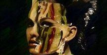 DRAWING. / Serie de obras de dibujos surrealistas de la artista Carmen Luna.