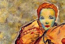 MARLENE DIETRICH. / Retratos realizados por la artista Carmen Luna en homenaje a Marlene Dietrich.