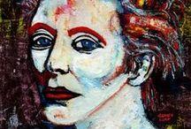 PORTRAITS. / Pinturas expresionistas de la artista Carmen Luna.
