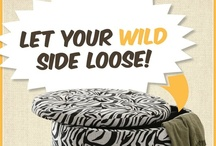 Let Your Wild Side Loose! / Giraffes and tigers and zebras... oh my! Bring life and boldness to any room by accentuating it with animal print fabrics.
