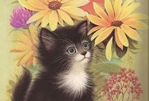 cat art ii / more cat themed art / by Rivka da Cat