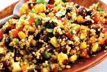 {Quinoa Recipes} / I am loving Quinoa as a protein source and rice substitute. It has so many great uses!
