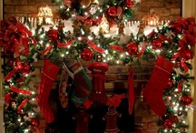 Christmas Door and Mantle swags / by Anne Kepple