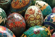 EGGstravagant! / I love eggs, whether they are homemade decoupage, Faberge, or Ukrainian. I use them to decorate in every season, enjoying the colors, and the extraordinary imagination of those who created them! / by Karen House Morrison