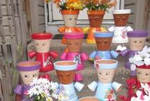 Flower Pot People World / Move over Gnomes the Pot People have moved in.  / by Teresa ( Tess) Howie