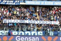 Refugees Welcome Banners - Italy / Italian supporters' banners saying welcome to refugees