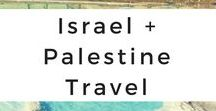 Israel + Palestine Travel / Get your Israel and Palestine wanderlust inspired through photo tours, travel tips, destination guides, travel adventures, itineraries, and travel advice.