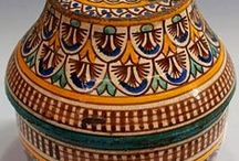 Moroccan Ceramics / Learn and Discover More about Moroccan Ceramics on a Pottery and Zellig Tile Design Tour of Morocco.