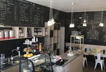 Coffee shops / Small coffee shop in Constanta, Romania, that works with two fixed prices: 5 Ron for basic coffee drinks and 10 Ron for specialties.