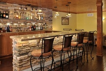 Basement Ideas  / Ranging from an in home bar to a sweet entertainment system, here are a variety of ideas for a super awesome basement!