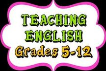 Teaching English (Gr 5-12)   / Ideas for your Middle and High School English Language Arts classroom. **PLEASE READ NEW RULES for Collaborative Pinners**   Share your favorite ELA teaching ideas to this board!  RULES: For every paid product, post 2 freebies or teaching ideas. Please no more than THREE per day total. Enjoy!   **If pinning TEACHERS PAY TEACHERS products, please do not pin directly from TPT; instead, upload the cover picture and link it to TPT. This helps keep our board uniform. Thank you!**