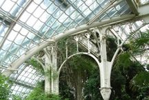 Conservatories / Sometimes called orangeries or greenhouses, the conservatory permits the growing of tropical fruit trees in temperate climes, as well as the year-round cultivation of plants that would otherwise die back in autumn and winter.  I am going to build one because I want to grow my own key limes, Meyer lemons, and avocados.