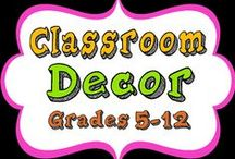 """Classroom Decor / Bulletin boards, furniture, and DIY projects geared toward a middle school classroom. NOTE: the board """"For the Classroom"""" has been split between Classroom Organization and Classroom Décor."""