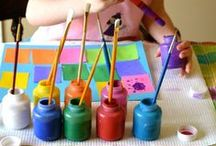Inspiring Kids' Art / Have you ever thought of inspiring your kids' artwork by great artist? What about painting with noodles or in the bath tub? Lots of ideas, inspirations, for art with kids! #kids #art #parenting / by Bethany Winston
