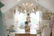 My dream craft room / ideas for my dream craft room. Craft room organizing. Craft room decorating / by Lorna Leslie
