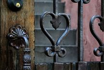 """Unique Doors / """"When one door of happiness closes, another opens; but often we look so long at the closed door that we do not see the one which has been opened for us."""" ~Helen Keller / by Courtney Inlow"""