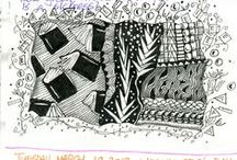 """A Writer's Occasional Visual Frolicking: Zentangles, Illustrated Journals, Collages / I'm a writer. Got the propers (confidence; publication; long-time engagement, daily doing). I'm not a 'real' artist (never sold, published, shown or even tried; do it only occasionally). Yet. I tell students, """"A real writer writes.""""    If real writers write, real artists 'art'. That, I do. Not seriously, but happily. Results? Can't say. Process? Luscious. Sometimes a person has to walk the talk. I trust process. I trust luscious."""
