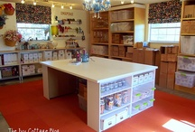 sewing room decorating ideas / by Amy Hughes