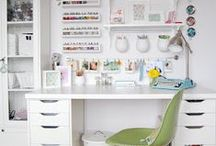Craft: Space and Storage / Amazing craft rooms and awesome craft storage systems