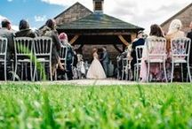Ceremonies: Outside at Heaton House Farm / We have four licensed civil ceremonies areas available: three indoor and one outdoor area. The outdoor option is our Oak Pagoda which looks beautiful and overlooks the stunning views of Cheshire and Derbyshire.