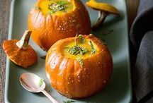 Pumpkins!! / Pumpkins are awesome! You'll find lots of recipes using pumpkins as an ingredient, as well as pumpkin carvings and other awesome pumpkin... stuff!