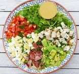 COOK: Salads / So many different kinds of salads on this board - with pasta, with rice, with vegetables, with meat, with fish, with eggs... plenty of recipes and ideas!