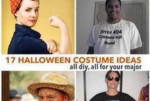 DIY Halloween Costumes / Clever and creative DIY Halloween costumes on a college student budget. Plan your prize-winning wonder months in advance or go with a last-minute costume idea. Either way, these are fabulous costume ideas for college students and beyond!  / by Textbooks.com