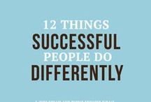 successful people / Things that successful people do in their daily lives that you can too.