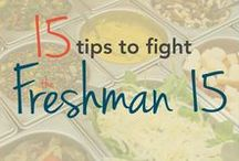 Fight the Freshman 15 / Stay healthy and keep fit. Tips, tricks and hacks for fighting off the Freshman 15, or any year really!   #freshman15 #health #fitness #workout