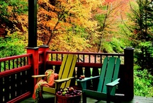 Outdoor Spaces / tea houses, garden rooms, roma caravans, outdoor niches, garden sheds, potting tables, small barns, cozy patios, woodland playgrounds, tree houses