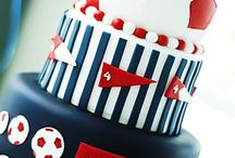 Sports food / Cakes, cupcakes, pop cakes, cookies and more ideas for sports party's theme.