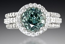 Pave Engagement Rings / by Krikawa Jewelry Designs