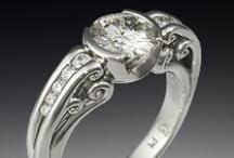 Bezel Set Engagement Rings / by Krikawa Jewelry Designs