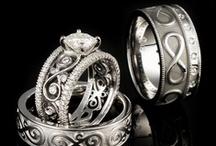 Infinity Symbol Wedding Bands / by Krikawa Jewelry Designs