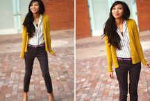Fashion - Work / Business smart, business casual, workplace attire, blazers, dress pants