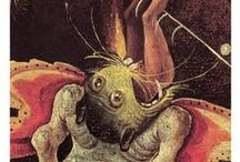 Hieronymos Bosch Painter / Hieronymos Bosch created a variety of demonic figures in his religious paintings from the Renaissance. We are fascinated by his imagination even today.