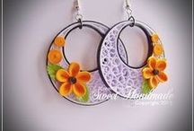 My Work - Quilling Jewelry / Unique handmade paper quilled earrings, necklaces, pendants, and more! Carefully handcrafted by me using the art of paper quilling!