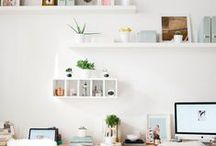 Inspiring Spaces / Cultivate focus, creativity, growth, + success through your environment. Plants + quotes + open spaces.