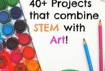 STEM + Art = STEAM / STEM is a teaching philiosophy that integrates Science, Technology, Engineering and Math into all lessons - STEM curriculum with my 5th grade art class.  Inspirations for this are Leonardo daVinci, Impressionists, Seuret ... and more to come with my visits to pinterest... :)