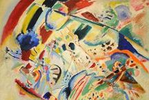 ♛♛♛ Kandinsky / Kandinsky art lessons marry well with music! I like to have jazzy music on as the kids create their abstract creations.